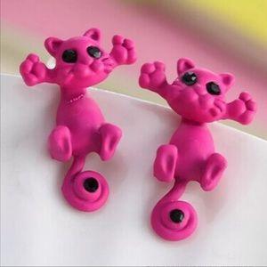 Jewelry - Hot pink Cat Earring